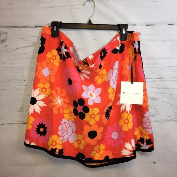 97d8d41624 Victoria Beckham for Target Skirts | Victoria Beckham Orange Floral ...